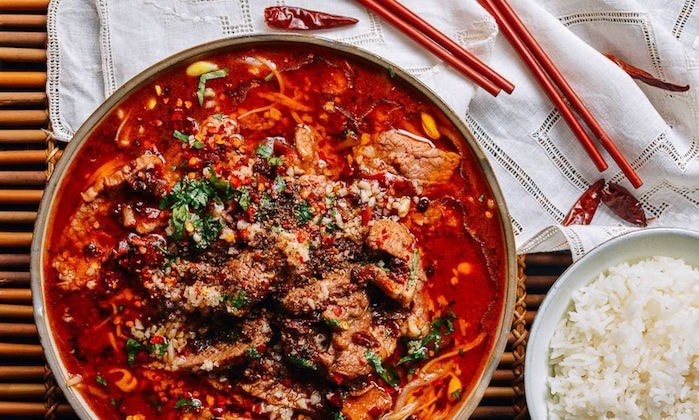 Sichuan spicy food